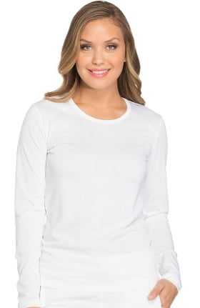 Clearance Dynamix by Dickies Women's Long Sleeve Solid Underscrub T-Shirt