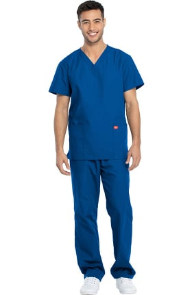 Clearance Dickies Unisex V-Neck Top & Drawstring Pant Scrub Set