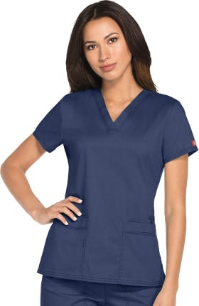 Advance by Dickies Women's 2 Pocket Solid Scrub Top