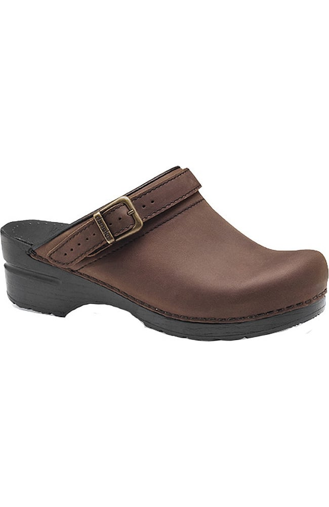 Ingrid Oiled Leather Buckle Clogs WGoUaT