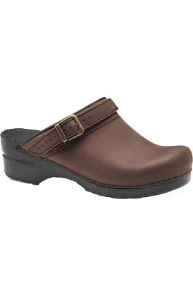 Clearance Professional Stapled Clog by Dansko Women's Ingrid Oiled Nursing Shoe