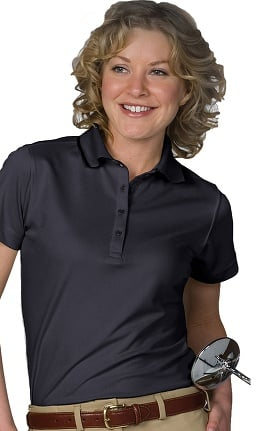 Clearance Edwards Garment Women's Short Sleeve Collar Trim Hi-Perform Polo