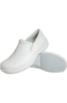 Clearance Genuine Grip Women's White Slip On Shoe
