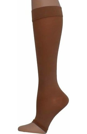 Global Health Women's 20-30 mmHg Compression Extra Firm Microfiber Knee High Open Toe Stockings