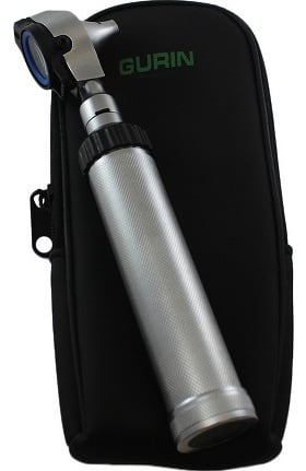 Gurin Professional Fiber Optic Otoscope with Leather Case
