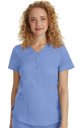 Purple Label by Healing Hands Women's Jane Y-Neck Solid Scrub Top