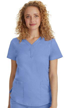 Purple Label Modern Fit by Healing Hands Women's Jane Y-Neck Solid Scrub Top