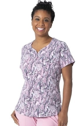 Premiere by Healing Hands Women's Isabel Sweetheart Beauty Print Scrub Top