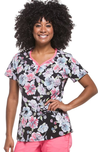 99fbcbe988d Clearance Women's Isabel Sweetheart Neck Floral Print Scrub Top. Clearance  Premiere by Healing Hands ...