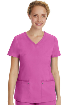 Purple Label by Healing Hands Women's Juliet V-Neck Yoga Scrub Top