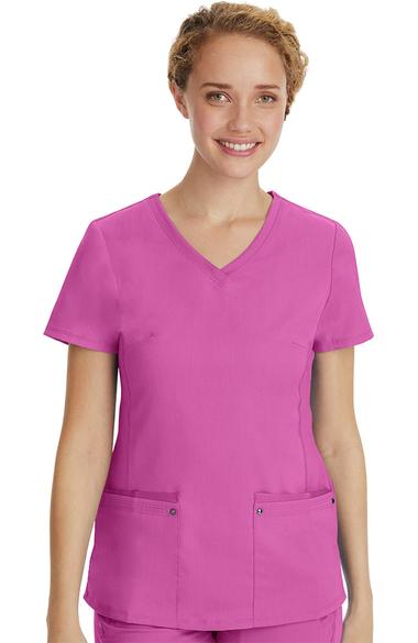 332715680b5 Purple Label by Healing Hands Women's Juliet V-Neck Yoga Scrub Top