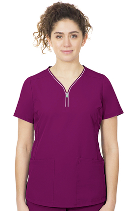 HH360 by Healing Hands Women's Sonia Stretch Solid Scrub Top