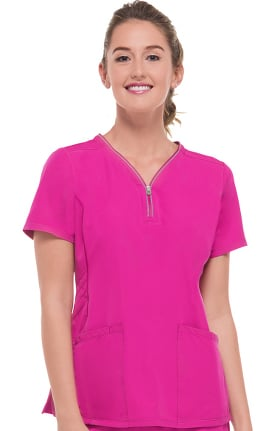 Clearance HH360° by Healing Hands Women's Sonia Stretch Solid Scrub Top