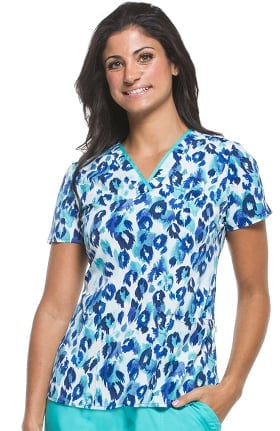 Premiere by Healing Hands Women's Amanda V-Neck Animal Print Scrub Top