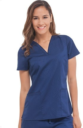 Purple Label Modern Fit by Healing Hands Women's Amanda V-Neck Solid Scrub Top