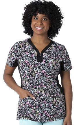 Clearance Premiere by Healing Hands Women's Jessi Ditz For Daisy Print Scrub Top