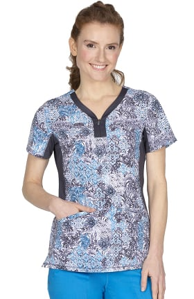 Premiere by Healing Hands Women's Jessi Medieval Times Print Scrub Top