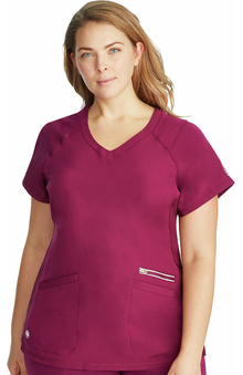 HH360 by Healing Hands Women's Serena V-Neck Solid Scrub Top