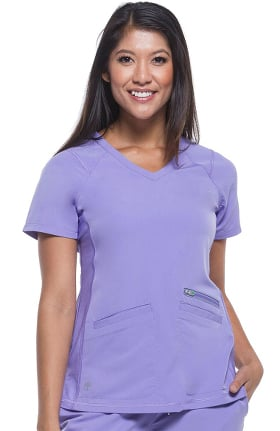 Clearance HH360° by Healing Hands Women's Serena V-Neck Solid Scrub Top