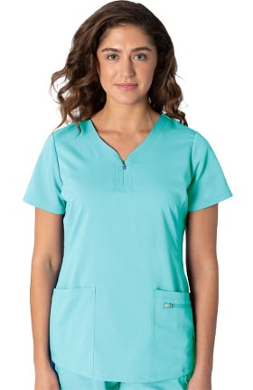 Clearance Purple Label by Healing Hands Women's Jeni Solid Scrub Top