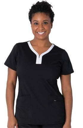 Purple Label by Healing Hands Women's Limited Edition Jeni Solid Scrub Top