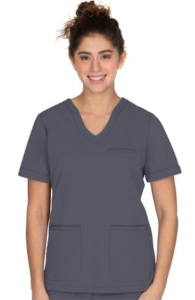 ONYX by Healing Hands Women's Averie Solid Scrub Top