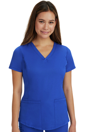 HH Works by Healing Hands Women's Marcia Scoop Neck Solid Scrub Top