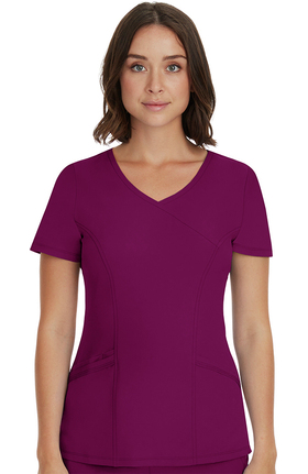 HH Works by Healing Hands Women's Madison Faux Wrap Neck Top