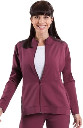Clearance Purple Label by Healing Hands Women's Dakota Zip Front Scrub Jacket