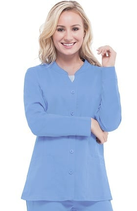 Clearance Purple Label Classic Fit by Healing Hands Women's Dana Button Front Scrub Jacket