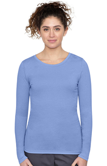 Purple Label by Healing Hands Women's Melissa Long Sleeve Stretch T-Shirt
