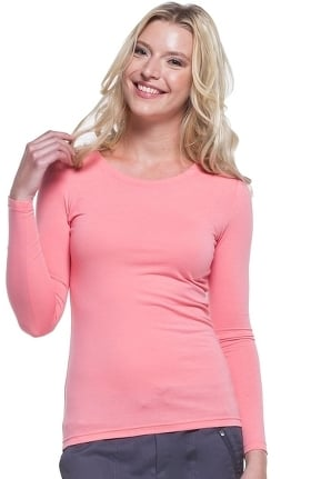 Knits by Healing Hands Women's Melissa Long Sleeve Stretch T-Shirt