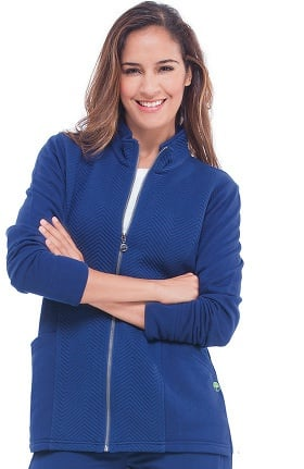 Knits by Healing Hands Women's Jolie Quilted Solid Scrub Jacket