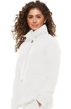Clearance HH360 by Healing Hands Women's Carrie Double Zip Front Solid Scrub Jacket