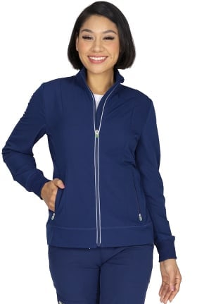 HH360 by Healing Hands Women's Carly Solid Scrub Jacket