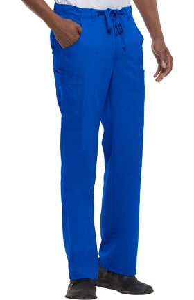 Clearance Blue Label by Healing Hands Men's Dylan Cargo Zip Fly Scrub Pant