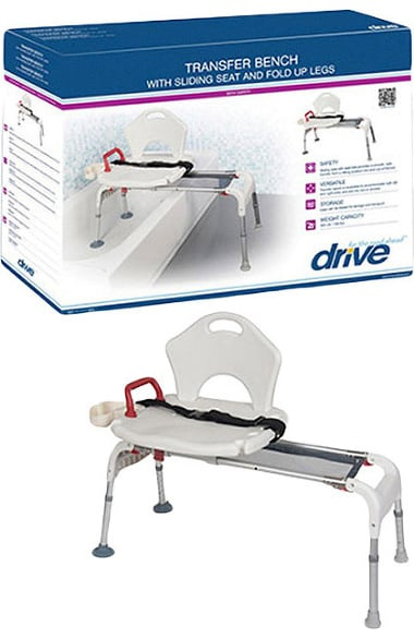 Drive Medical Sliding Shower Chair with Soap Box | allheart.com