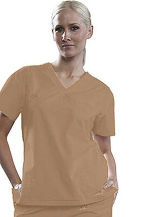Clearance IguanaMed Women's V-Neck Solid Scrub Top