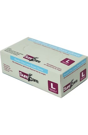 SureCare Powder Free Latex 6.4 MIL Exam Glove
