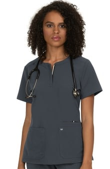 koi Next Gen Women's Back In Action Solid Scrub Top