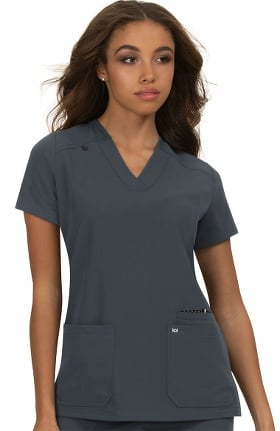koi Next Gen Women's Hustle & Heart Solid Scrub Top