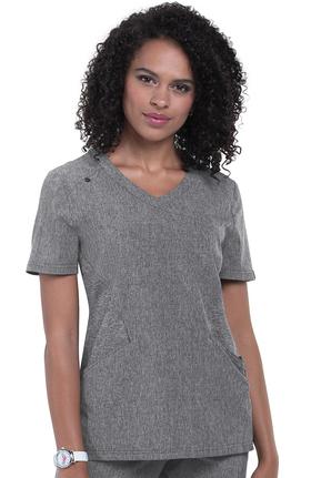 koi Basics Women's Charlotte Solid Scrub Top
