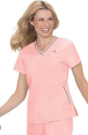 Clearance koi Classics Women's Ashley Crossover V-Neck Solid Scrub Top