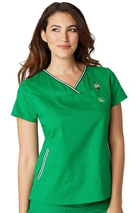 Clearance koi Classics Women's General Mills® Ashley Crossover V-Neck Solid Scrub Top