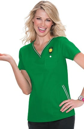 Clearance koi Classics Women's Ashley Crossover Solid Scrub Top
