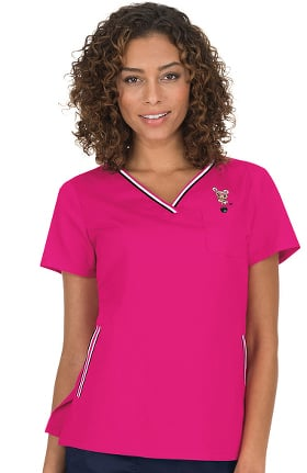Clearance koi by tokidoki Women's Ashley Crossover V-Neck Solid Scrub Top