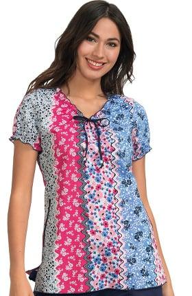 62ed54763b7 Clearance koi Prints Women's Bridgette V-Neck Embroidered Floral Print  Scrub Top