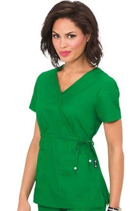 Clearance koi Classics Women's Katelyn Wrap Solid Scrub Top