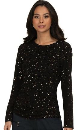 Clearance koi Lite Women's Tessa Stars Print Underscrub T-Shirt