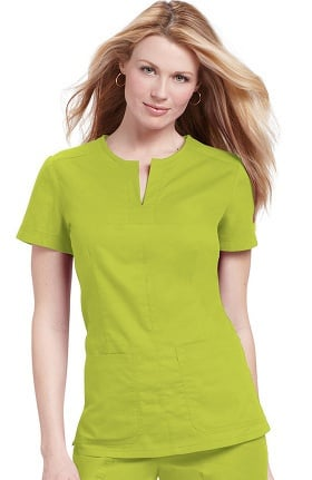 Clearance koi Classics Women's Naomi Split Neck Solid Scrub Top